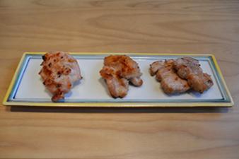 炙り肉3種盛り合わせ