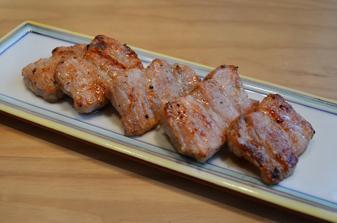 塩麹豚の炙り焼き